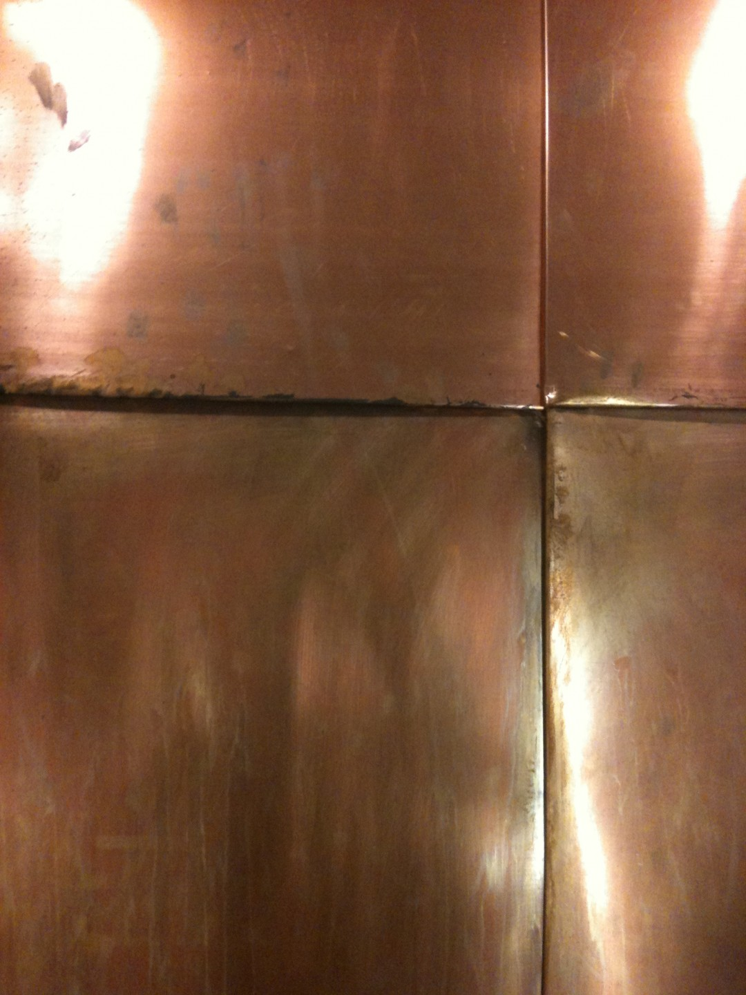 Copper, Hardware, Water  surface, patina and maintenance  Materials Sample